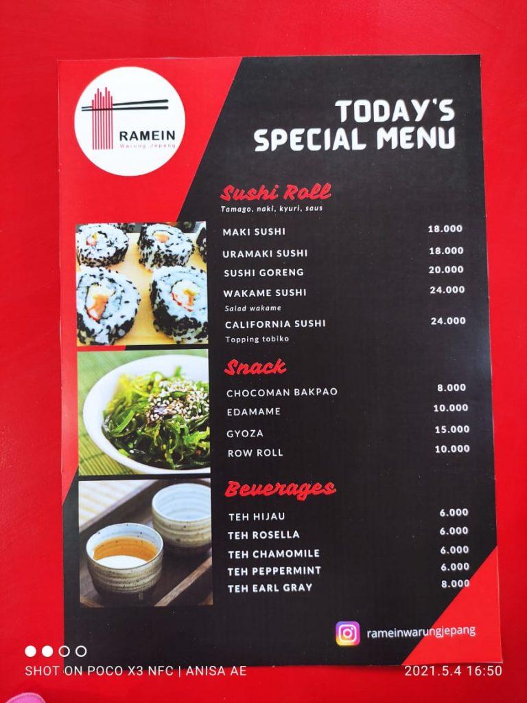 menu Ramein